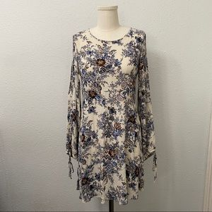 AEO Vintage Floral Cold Shoulder Mini Dress